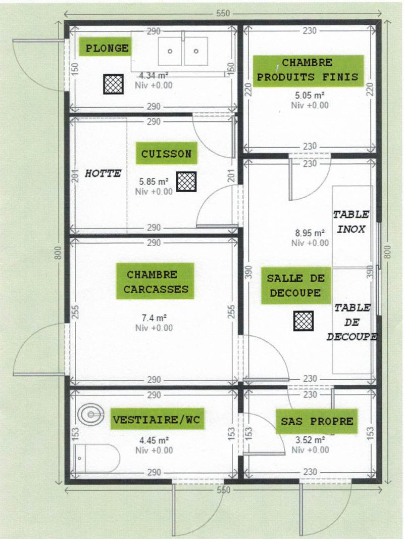 Chambre De Vieillissement Pour La Viande : Laboratoire de découpe spécial boucherie m² page