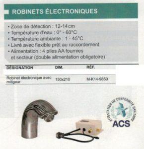 ROBINET ELECTRONIQUE M-K14-9850