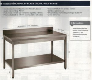 TABLE DEMONTABLE REF DRT